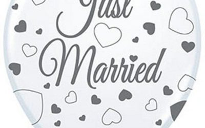 Just Married versiering